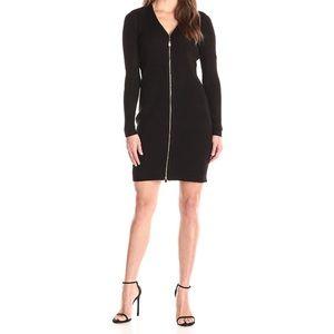 Calvin Klein Black Front Zip Dress